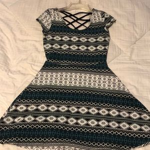 short fit and flare dress, true to size
